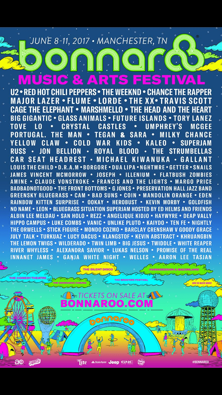 Bonnaroo single day tickets 2020