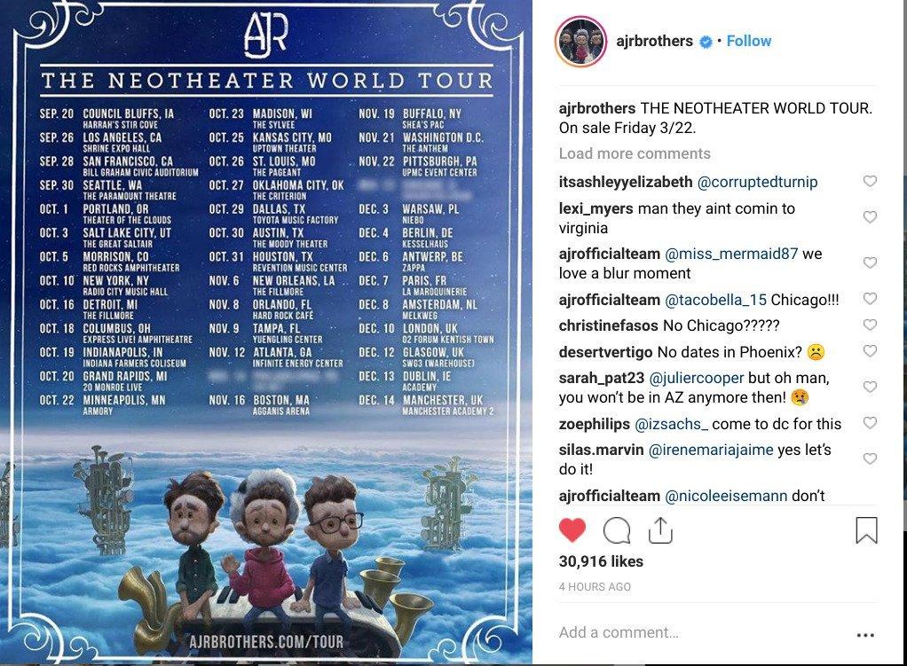 AJR Announces 'Neotheater' Tour Dates, Album Tracklist